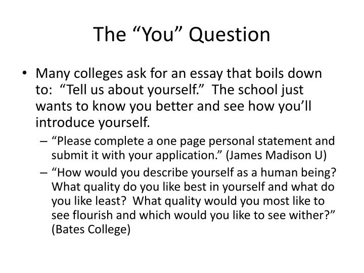 "The ""You"" Question"