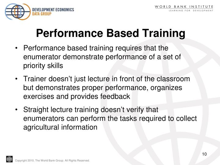 Performance Based Training