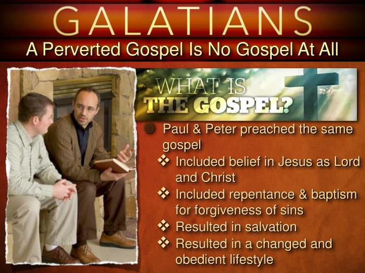 A Perverted Gospel Is No Gospel At All