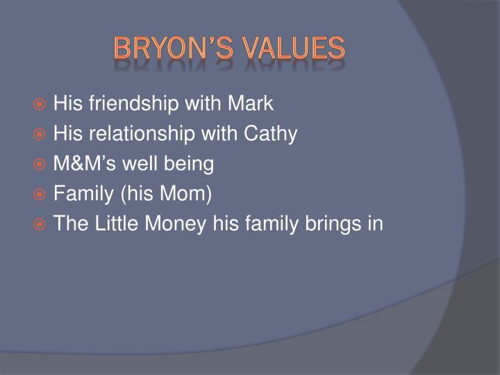 Bryon's Values