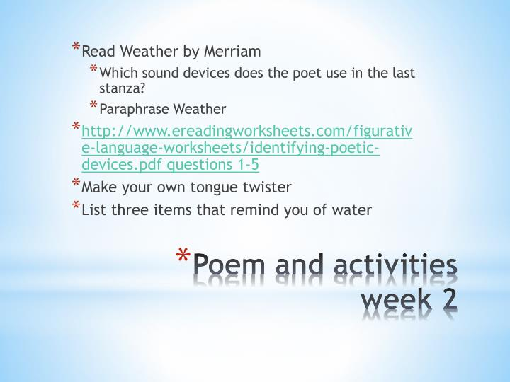 Read Weather by Merriam