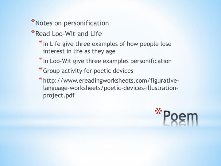 Notes on personification