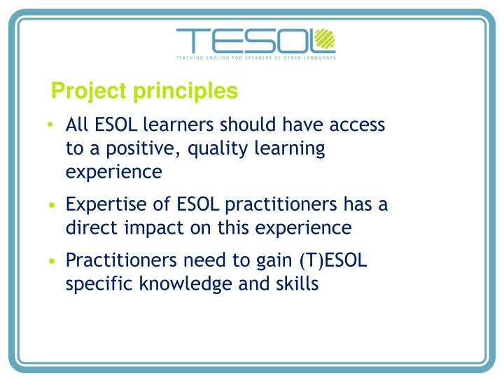 Project principles