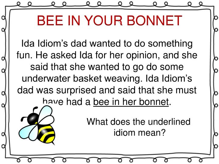 BEE IN YOUR BONNET