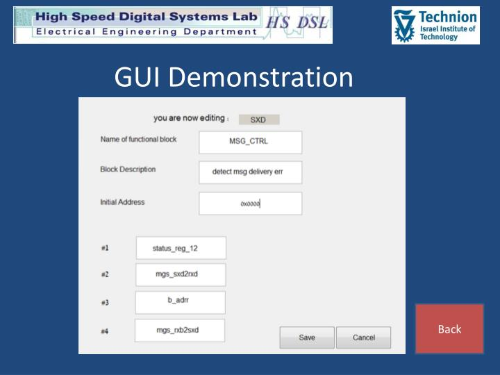 GUI Demonstration