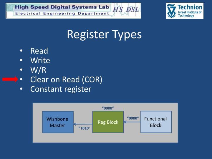 Register Types