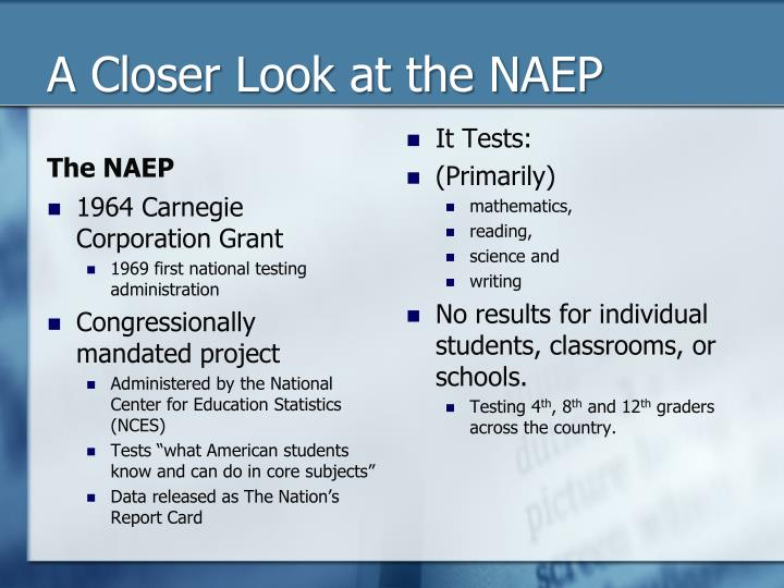 A Closer Look at the NAEP