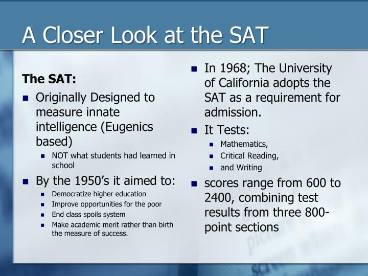 A closer look at the sat