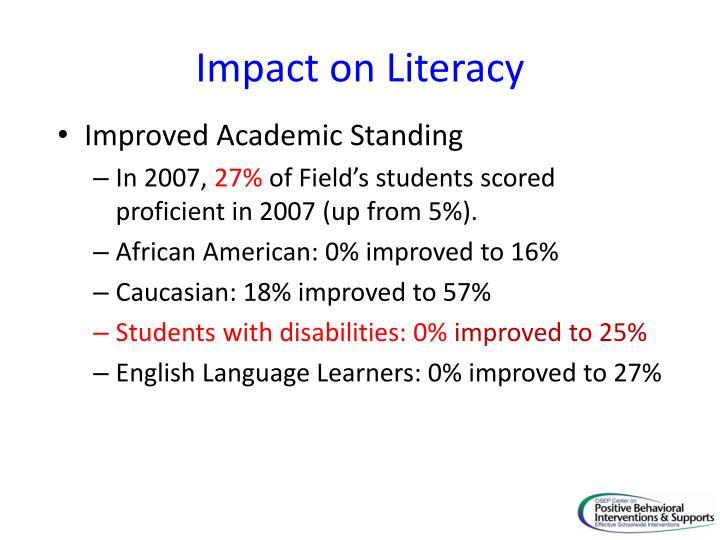 Impact on Literacy