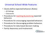 universal school wide features