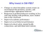 why invest in sw pbs