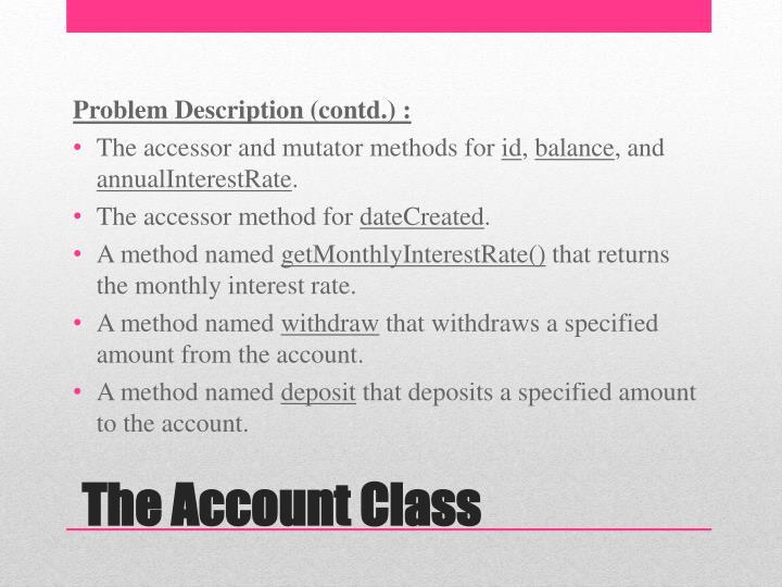 Problem Description (