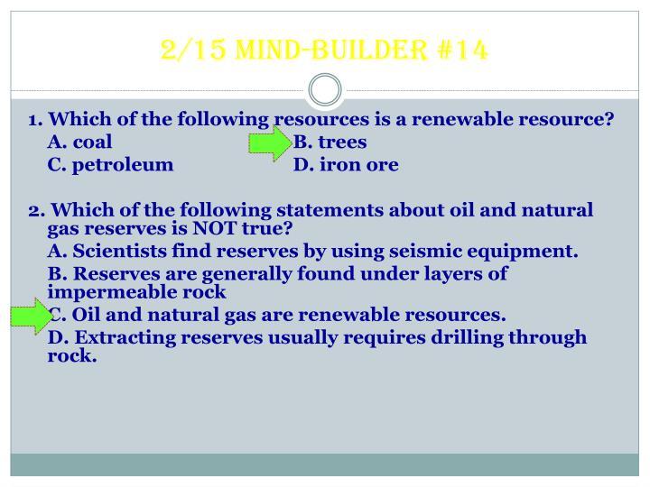 2/15 Mind-builder #14