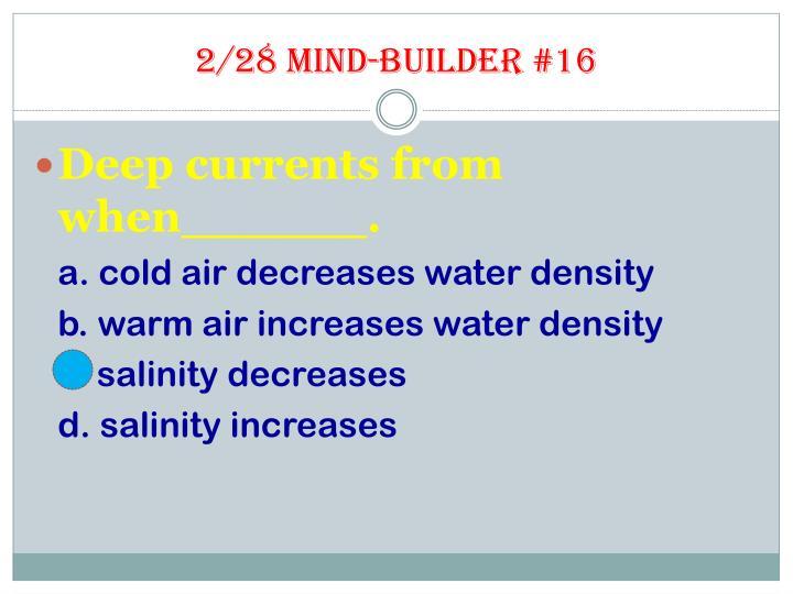 2/28 Mind-builder #16