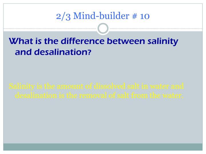 2/3 Mind-builder # 10
