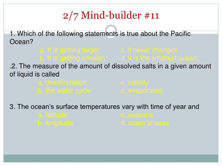 2/7 Mind-builder #11