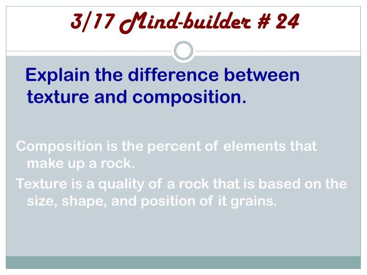 3/17 Mind-builder # 24
