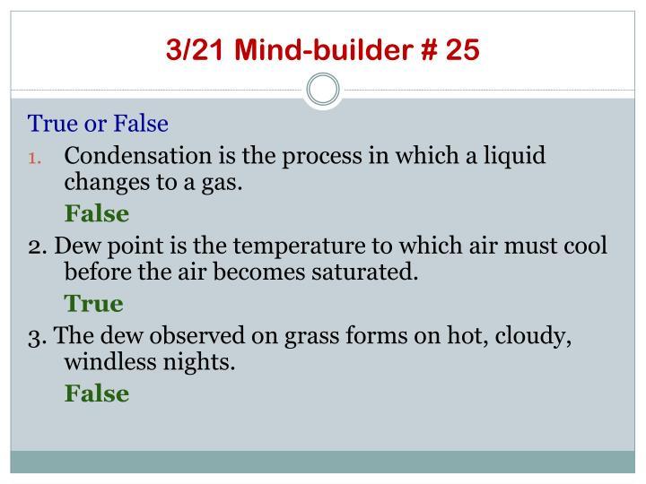 3/21 Mind-builder # 25