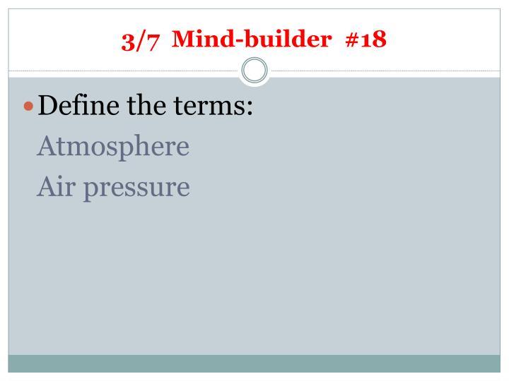 3/7  Mind-builder  #18