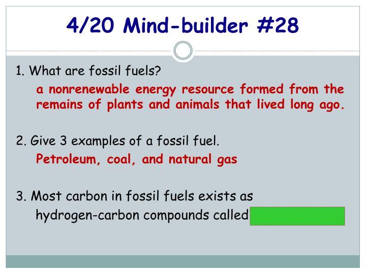 4/20 Mind-builder #28