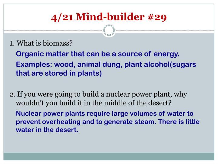 4/21 Mind-builder #29