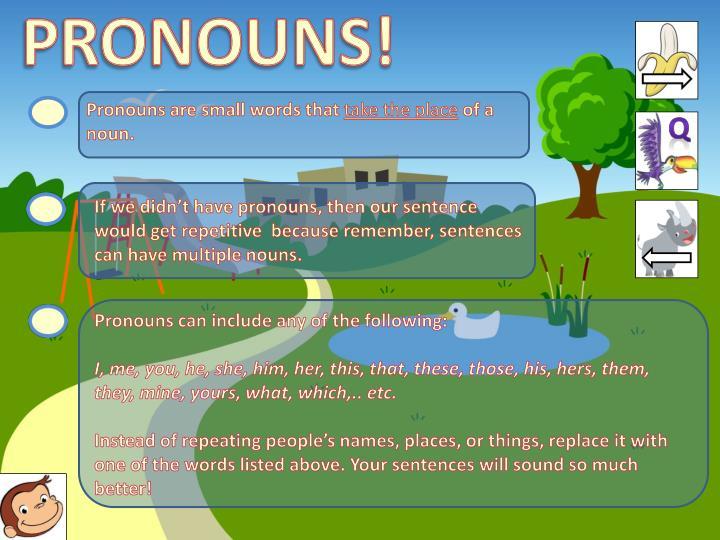 PRONOUNS!