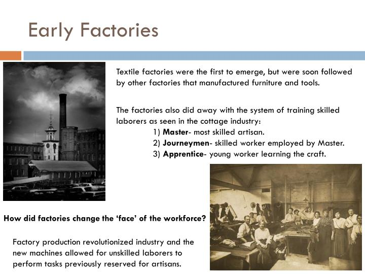 Early factories