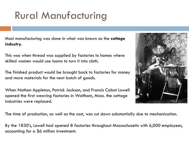 Rural Manufacturing