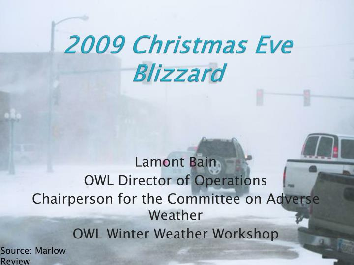 2009 christmas eve blizzard