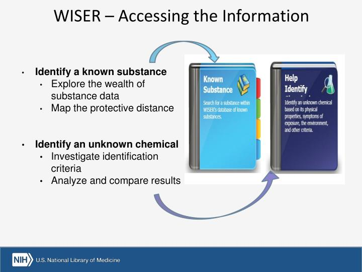 WISER – Accessing the Information