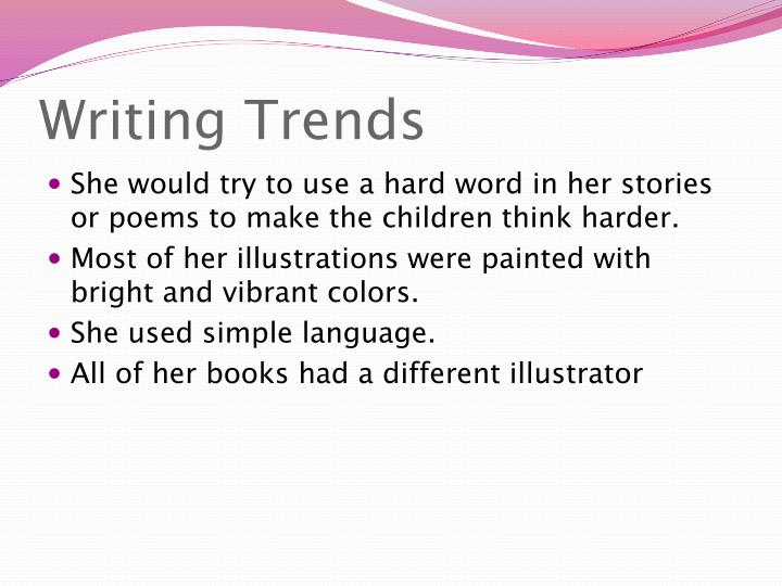 Writing Trends