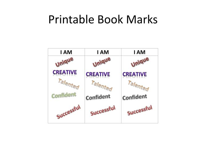 Printable Book Marks