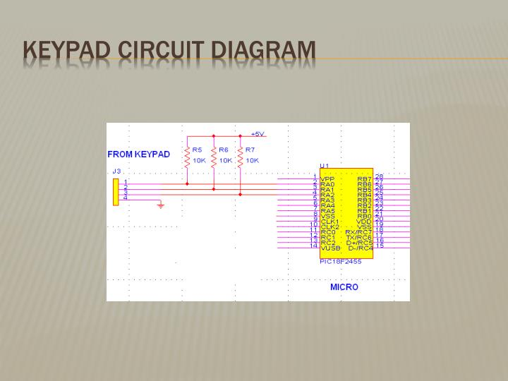 Keypad Circuit Diagram