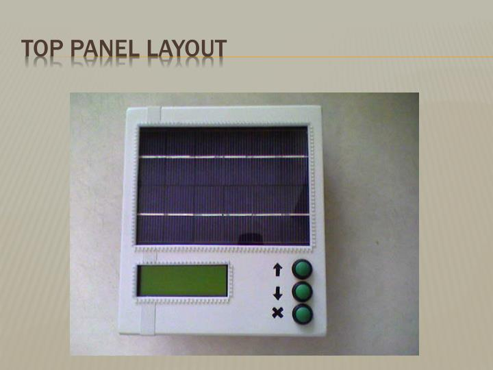 Top Panel Layout