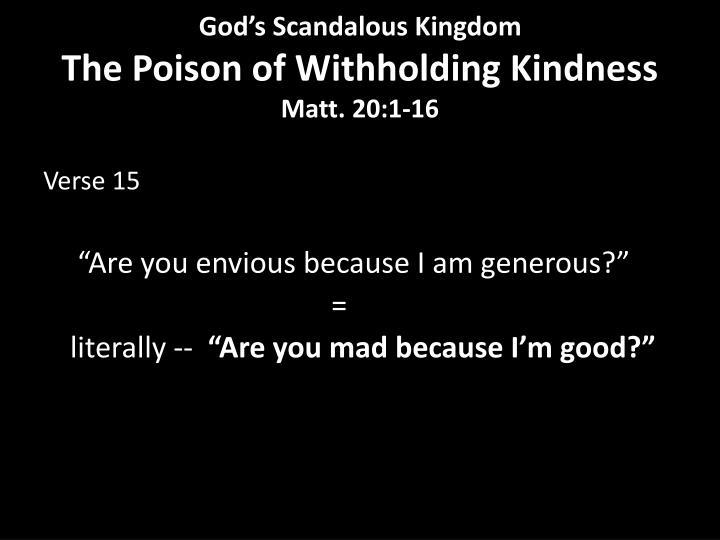 God's Scandalous Kingdom