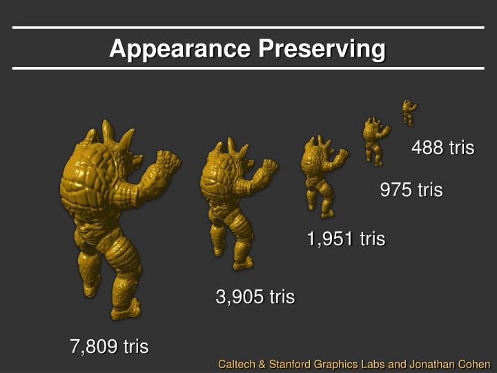 Appearance Preserving