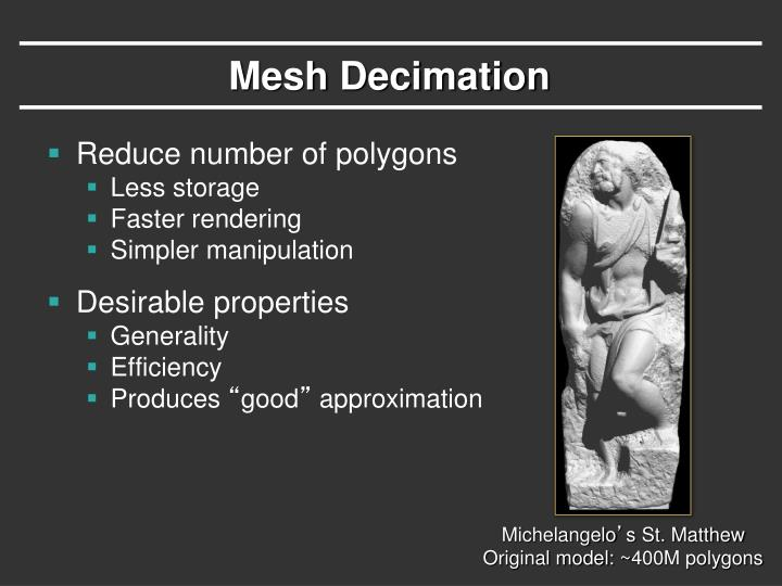 Mesh Decimation