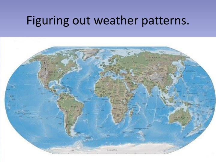 Figuring out weather patterns.