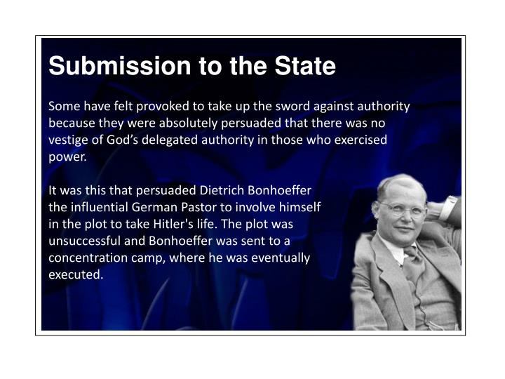 Submission to the State