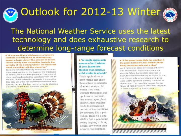 Outlook for 2012-13 Winter