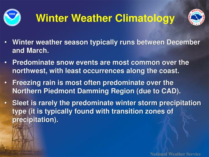Winter Weather Climatology