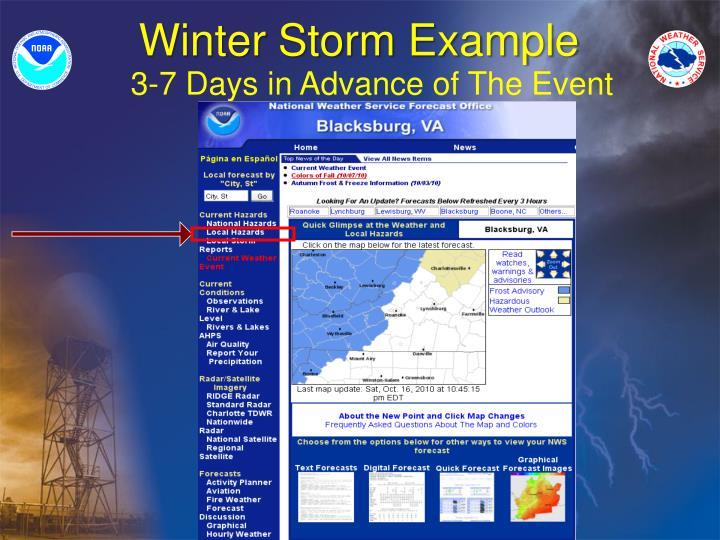 Winter Storm Example