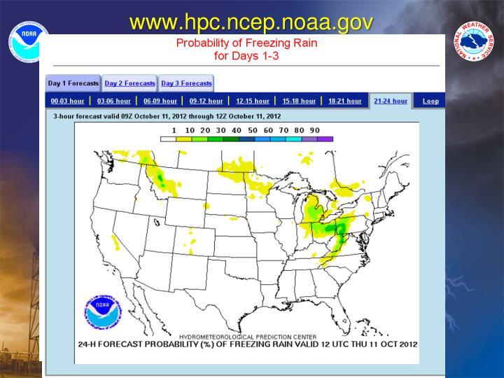 www.hpc.ncep.noaa.gov
