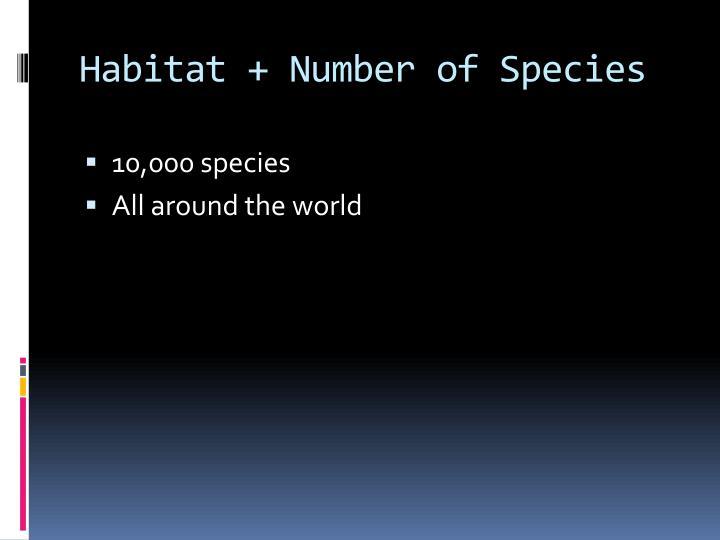 Habitat + Number of Species