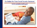go online for your social security statement
