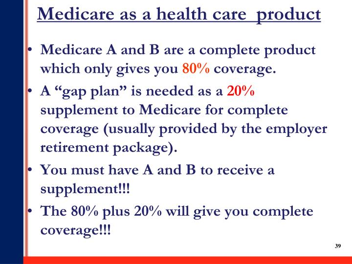 Medicare as a health care  product