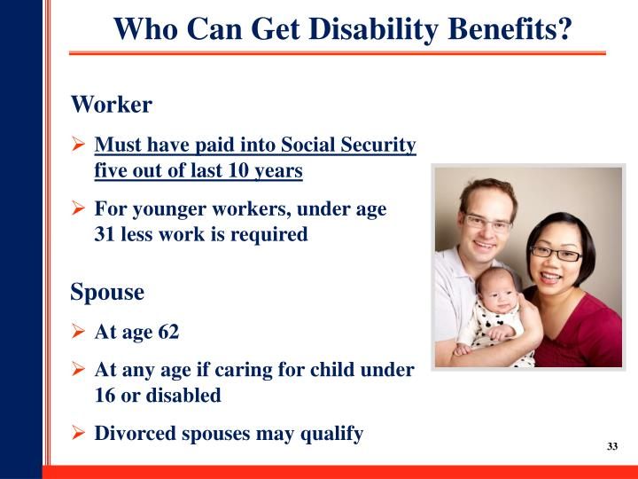 Who Can Get Disability Benefits?