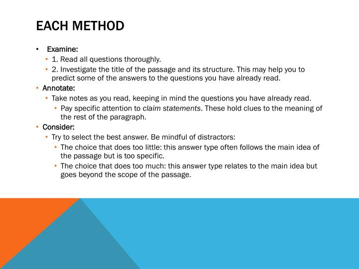 EACH Method