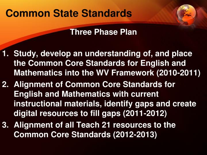 Common State Standards