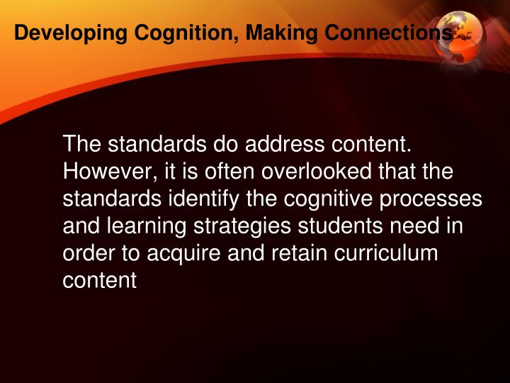 Developing Cognition, Making Connections
